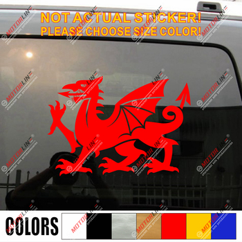 Wales Red Dragon Decal Sticker Welsh Y Ddraig Goch Car Vinyl pick size color h image