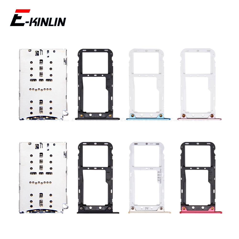 Sim Card / Micro SD Card Tray Socket Holder Slot Container Connector Adapter Reader Parts For XiaoMi Redmi 5 Plus Note 5 Pro