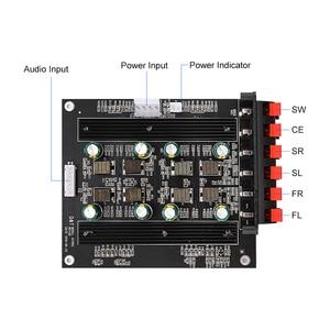 Image 3 - AIYIMA TPA3116 5.1 כוח דיגיטלי מגבר אודיו לוח Amplificador 50Wx4 100Wx2 רמקול מגבר DIY 5.1 בית תיאטרון קול