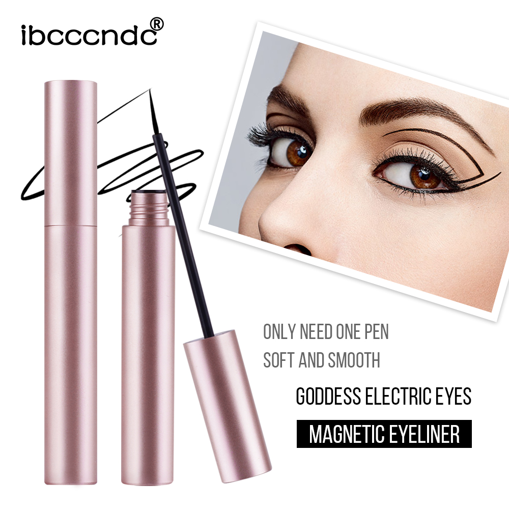 5 Ml Magnetic Liquid Eyeliner For Magnets Eyelashes Rose Gold Quick Dry Waterproof Eye Liner Girls Makeup Cosmetic Tool TSLM2