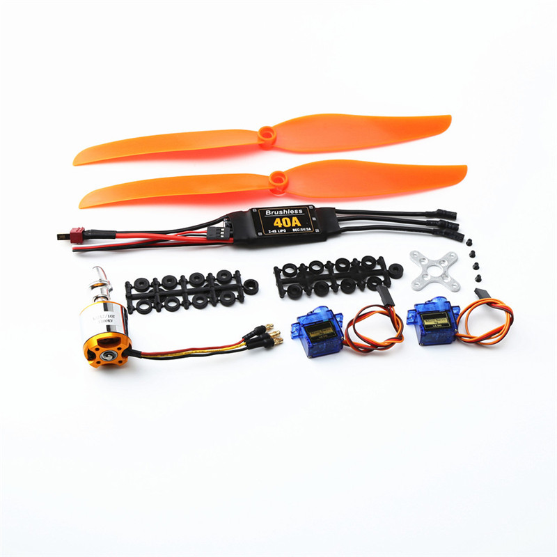 XXD <font><b>2217</b></font> KV1100 Brushless Motor+1060 Propeller*2+9g Servo*2+40A ESC RC Power System Combo for RC Drone Airplane RC Quadcopter image