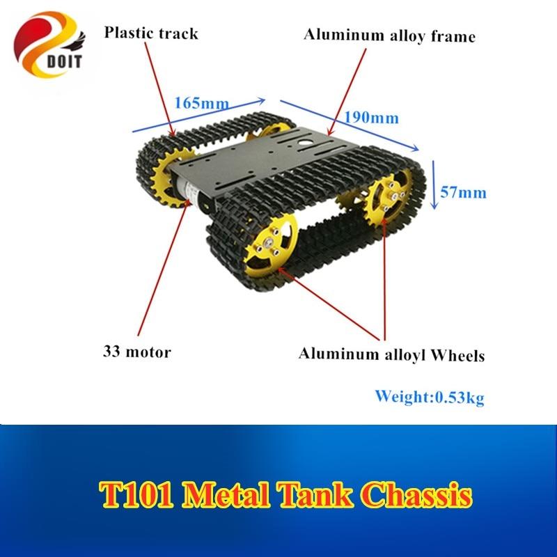 DOIT  Robot Tank Car Kit, Mini T101, Robotic Tracked Chassis Model  Platform With 33GB-520 Motor For Arduino DIY Robotic