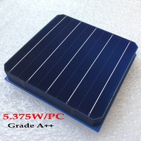 50PCS 5BB high efficient 5.375w 156*156MM Photovoltaic monocrystalline Silicon solar Grade A for home solar cell DIY use