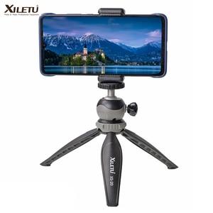 Image 1 - XILETU XS 20 Mini Desktop little Phone Stand Tabletop Tripod for Vlog Mirrorless Camera Smart phone with Detachable Ball head