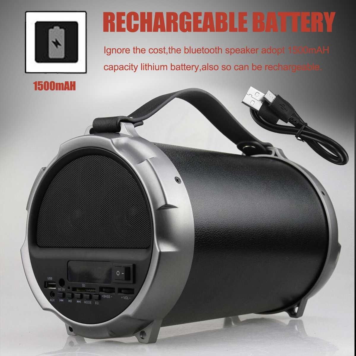 20W Portable Bluetooth Speaker Wireless Outdoor Stereo Bass USB//TF//AUX FM Radio