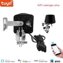 Válvula de água smart tuya 12v, válvula de controle sem fio inteligente alexa google controle de voz para automação residencial