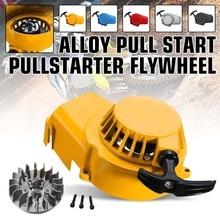 Motorrad Zündung Pull Start Starter mit Schwungrad Für 2 Hub 47cc 49cc Mini Moto Roller Dirt Pit Bike ATV Quad