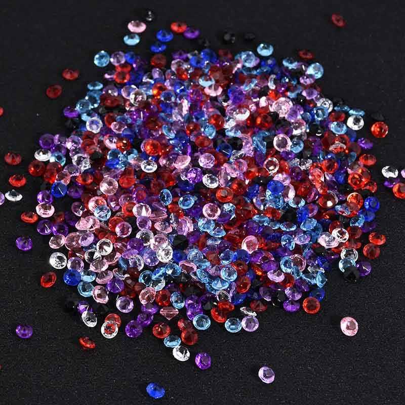 Lnrrabc venda 3mm 1000 peças/lote half round strand acrílico contas de cristal para cortina de casamento prego arte telefone casa decoração diy