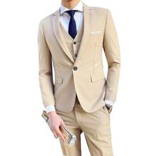 Wedding-Clothing Men Suits Men's-Sets Business Party Custom-Made Peaked Lapel Three-Piece/Set