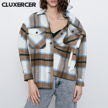 2020 Women Blouses Spring Autumn New Plaid Shirt Women Cotton Casual Turn-Down Long Sleeve Shirt Tops Lady Clothes