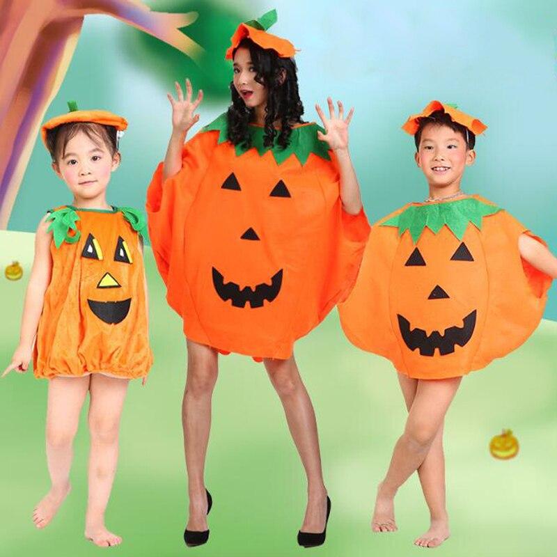 Ataullah Halloween Costume Parent-child For Kids Adult Boys Girls Pumpkin Tops Party Fancy Dress Clothes Cute Children DW007