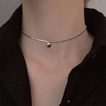 2020 Модные женские серебро фасоли воротник ожерелье новые ювелирные