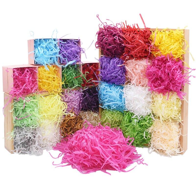 50 шт., измельченная зернистая полоса, бумага, конфетти, Подарочная коробка, наполняющий материал для рождественской свадебной вечеринки, де...