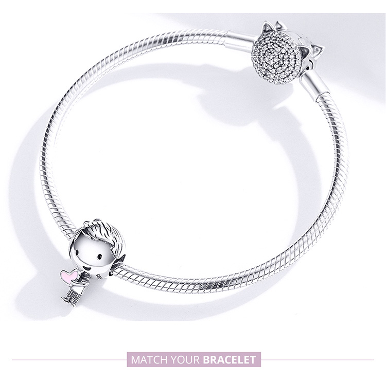 Bamoer Boy and Girl Charm for Original Silver 925 Bracelet