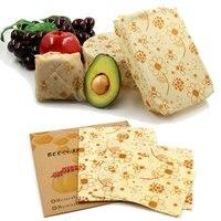 Многоразовая пищевая бумага органический пчелиный воск для хранения продуктов обертывания Нетоксичная пчелиный воск ткань для кухонных и...