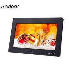 Andoer 10 ''HD Ультратонкая цифровая фоторамка TFT-LCD 1024*600 часы MP3 MP4 видеоплеер цифровая фоторамка с дистанционным управлением