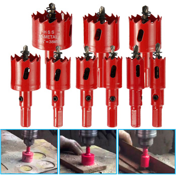 цена на 9pcs HSS Bi-Metal Wood Hole Saw Cutter Tooth Cutter Drill Bit for Woodworking DIY Wood Cutter Drill Bit Set PVC Plastic 16-38mm