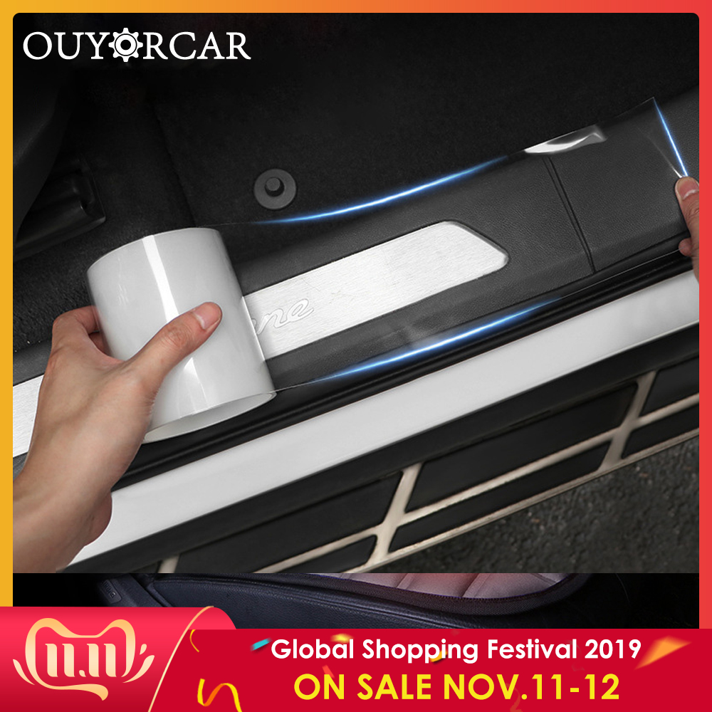 Car Stickers Auto Interior Protector Film Door Edge Protective Nano Glue Car Trunk Door Sill Full Body Sticker Vinyl Accessories-in Car Stickers from Automobiles & Motorcycles
