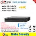Dahua NVR P2P 4K grabador de vídeo en red NVR4104HS-4KS2 NVR4108HS-4KS2 NVR4116HS-4KS2 4CH 8CH 16CH 1U 4K y H.265/H.264 DVR