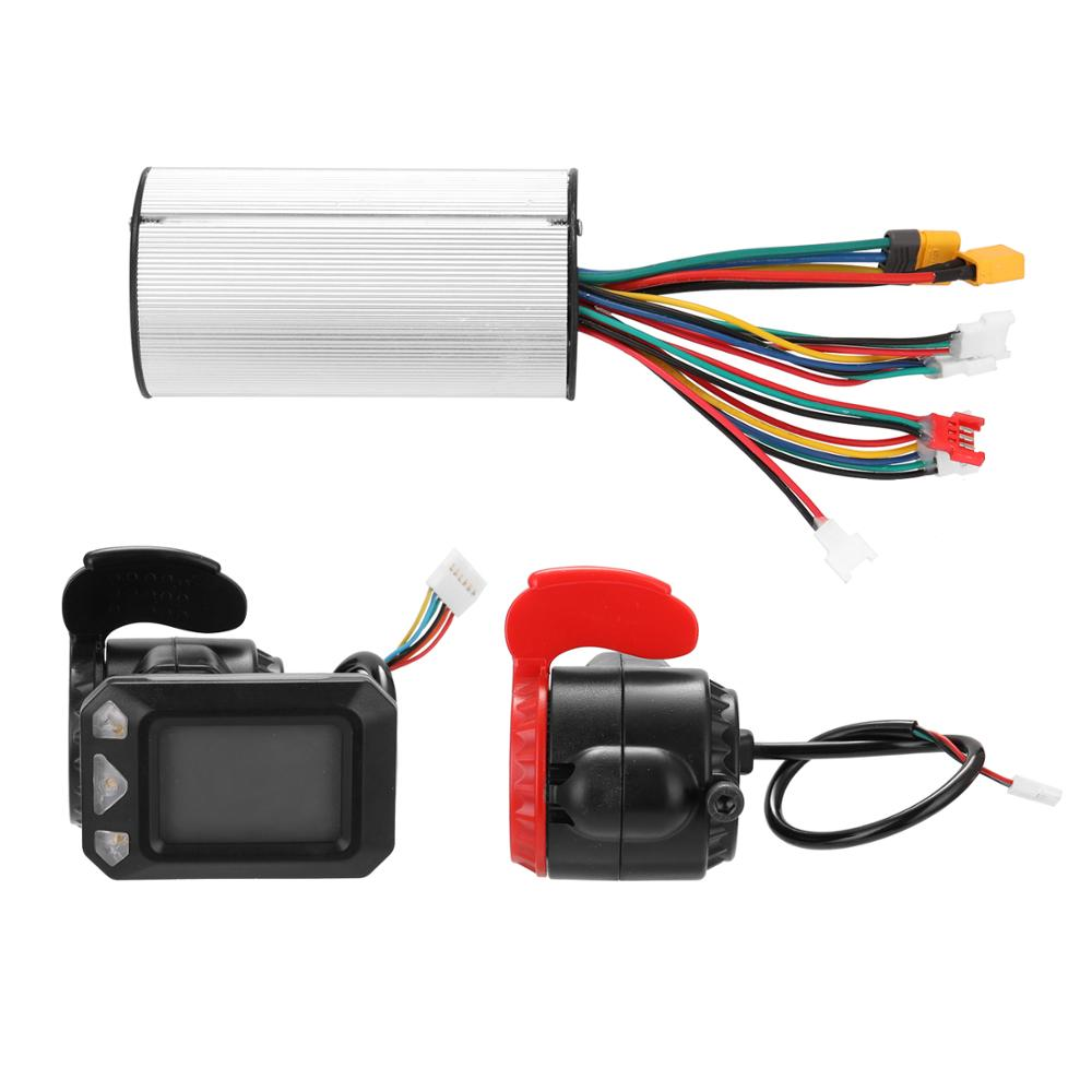 24V Bicycle Speed Regulation Controller Brake Set Aluminum Alloy Scooter Controller Electric Scooter Motor Controller