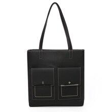 цена на Luxury Leather Women's Shoulder Bags Multifunctional Canvas Large Pocket Shoulder Bag Medium Denim Women's Leather Bags