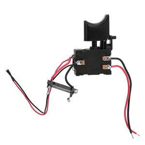Контроллер скорости сверла 7,2 в-24 в, переключатель сверления, беспроводная дрель с литиевой батареей, пусковой переключатель для контроля скорости с маленькой подсветкой