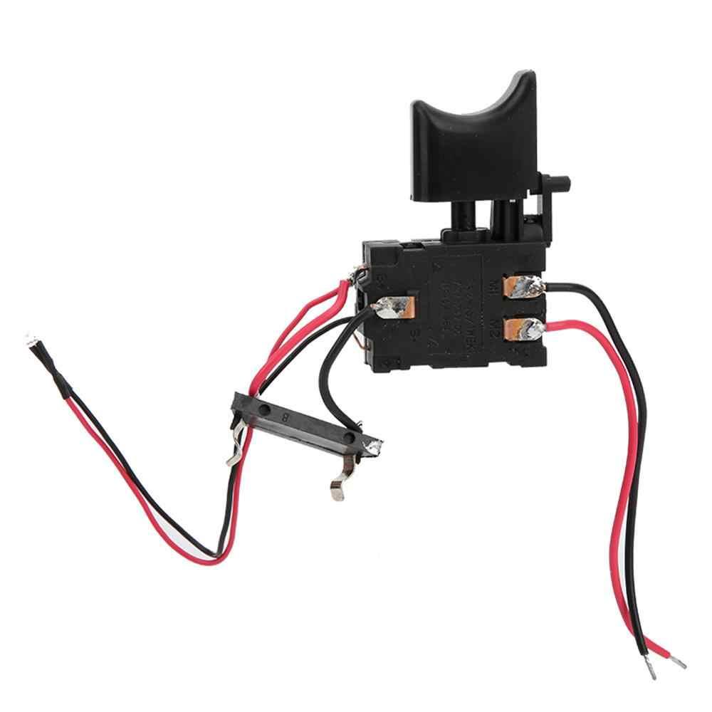 GAESHOW 7,2 V 24 V bater/ía de litio interruptor de gatillo de control de velocidad de taladro inal/ámbrico con interruptor de taladro de luz peque/ño