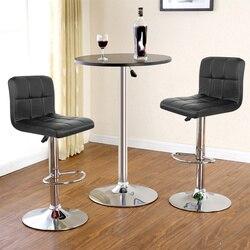 2PCS Barhocker Schwenk Möbel Leder Höhe Einstellbar Pub Bar Stuhl Moderne Wohnzimmer Möbel Bar Zubehör Stühle HWC