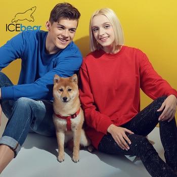 icebear 2020 New Casual Long Sleeve Round Neck Sweatshirt Pullover Men/Women Neutral style 029 2