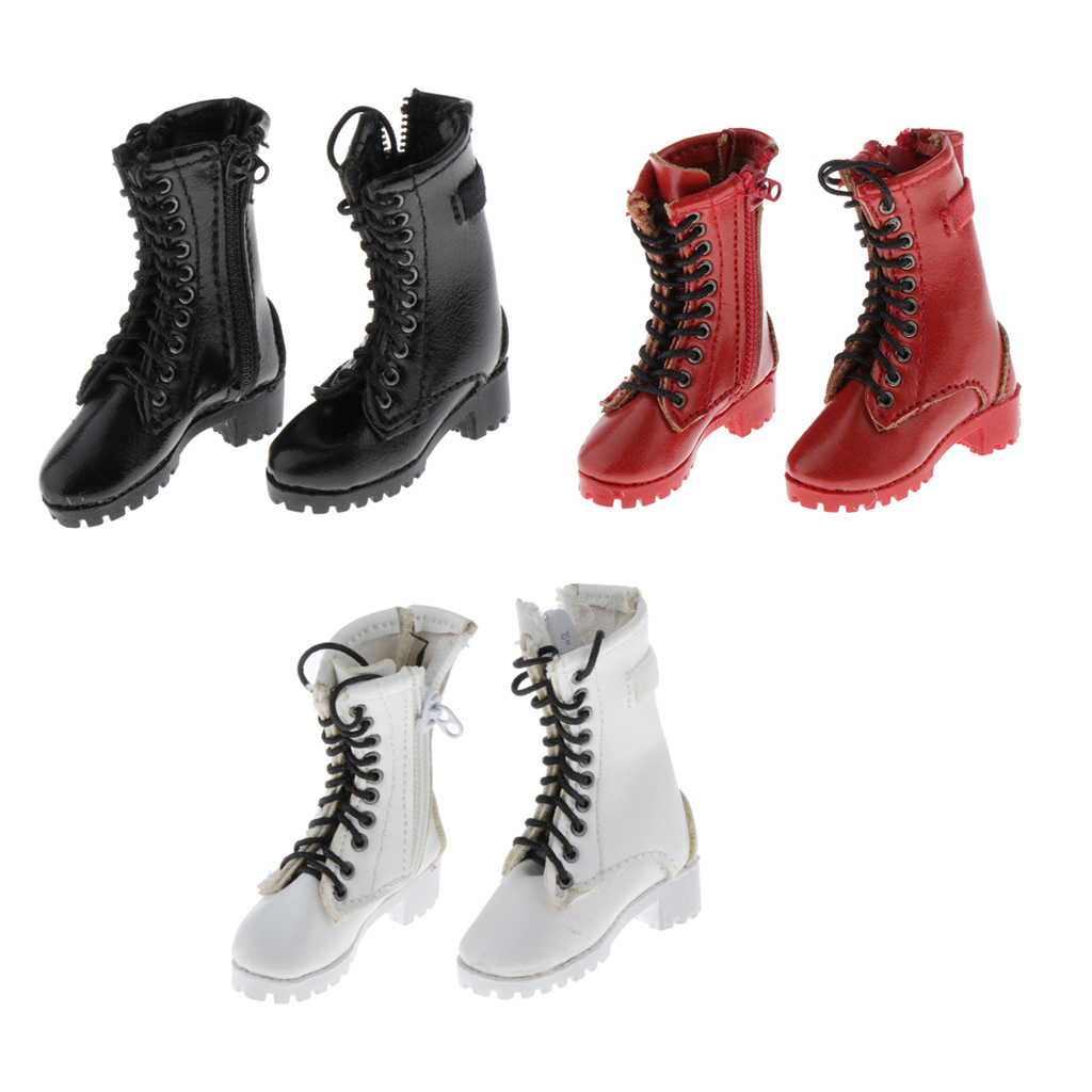 1/6 Scale Female Shoes PU Leather Combat Boots for 12inch Action Figures Hot Toys Body Accessories Игровые фигурки и трансформеры      АлиЭкспресс