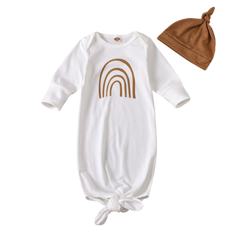 rainbow long sleeve swaddle