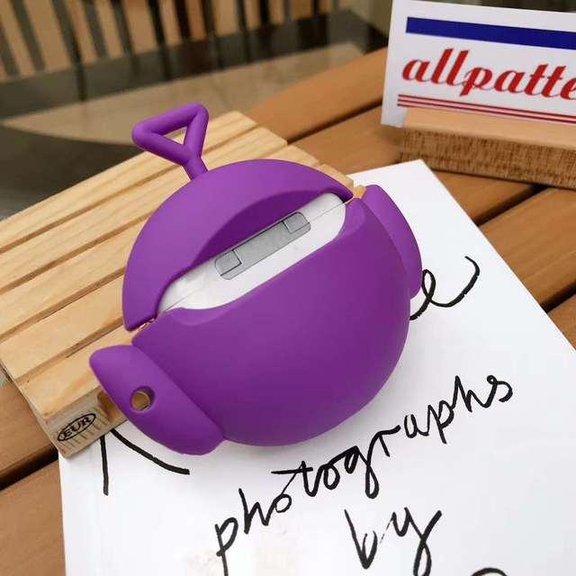 Funda Teletubbies 3D para Airpods 1 2 funda inalámbrica Bluetooth para Apple Airpods 1 2 funda de silicona para Air Pods Pro Fundas
