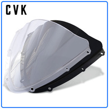 CVK Motorcycle Windshield Spoiler Windscreen Air Wind Deflector For  SUZUKI GSXR600 GSXR750 GSX-R 600 750 GSX R 2008 2009 2010 motorcycle fairings for suzuki gsxr gsx r 600 750 gsxr600 gsxr750 2008 2009 2010 k8 abs plastic injection fairing bodywok kit sw