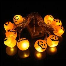 10led Хэллоуин Тыква паук летучая мышь череп гирлянда лампы