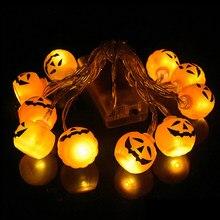 10LED Zucca di Halloween Spider Bat Cranio Luci Della Stringa Della Lampada FAI DA TE Appeso di Orrore di Halloween Decorazione Per La Casa Del Partito Forniture