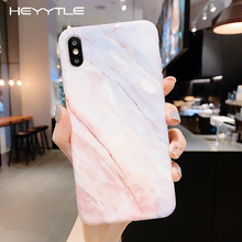 Heyytle Marble Pattern Soft Case For iPhone 7 8 Plus 6 6s Ultra Thin Colorful X XS MAX XR 5 11 Full Cover Coque