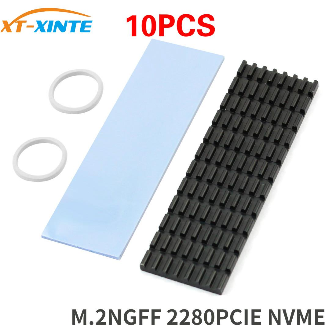 10PCS Upgraded Heatsink Cooler Heat Sink Cool Fin Thermal Conductive Adhesive For M.2 NGFF 2280 PCI-E NVME SSD Thickness 3/6mm