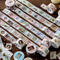 Do-Re-Mi 8Designs Retro Post Office stickers aesthetic Bullet Journaling Stamp Scrapbooking Deco Sticker Masking Stationery Tape