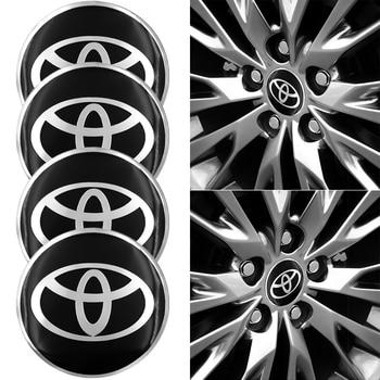 4pcs Car Wheel Hub Logo Badge Styling Sticker for Toyota Corolla Yaris Rav4 Avensis Auris Camry Car Accessories Auto Gadget taiyao car styling sport car sticker for toyota 2013 2018 rav4 hybrid sapphire car accessories and decals auto sticker