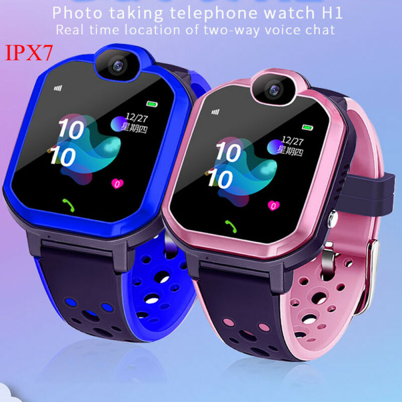 Kids GPS Tracker Smart Watch Touch Screen IPX7 Waterproof Bracelet Camera Phone