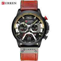 Curren/karui en 8329 tendência masculino relógio à prova dsix água de seis pinos multi funcional estilo grande dial watch|  -