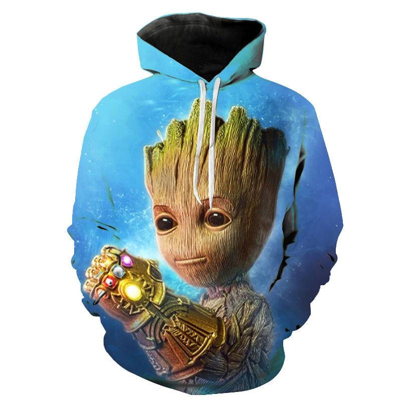 Marvel Superhero Groot Hoodie Men Women Children Movie Guardian Of The Galaxy 3D Print Hoodies Funny Pullover Cool Sweatshirt