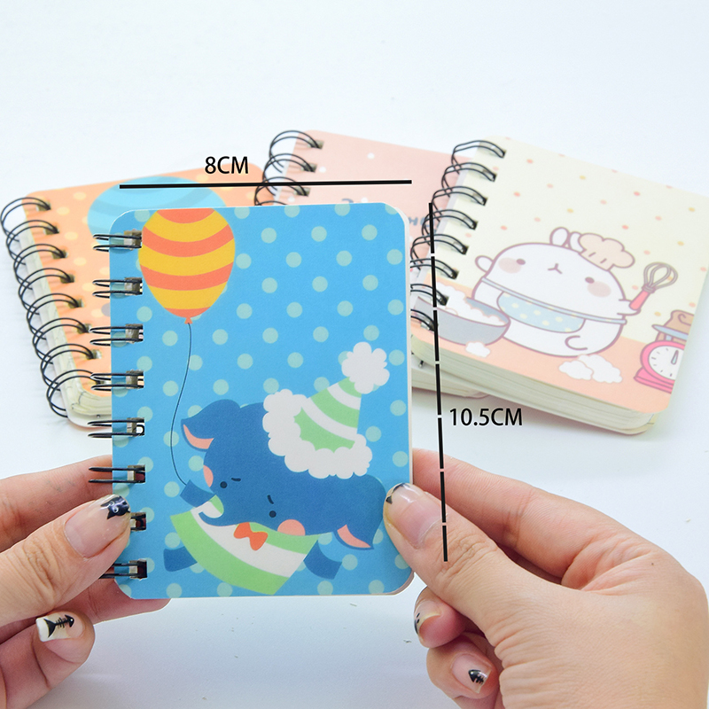 A7 80 Sheets Spiral Book Coil Notebook Kawaii Lined Paper Journal Diary Planner For School Supplies Stationery Gift