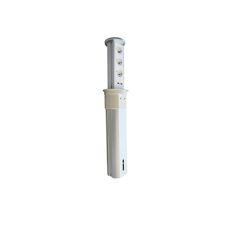 Levage automatique OEM avec électronique Pop up prise de courant 3 prise de courant ue et 2 Ports USB pour bureau/cuisine/salle de conférence H