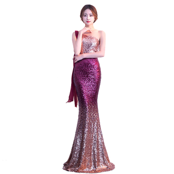LPTUTTI Sequin New For Women Elegant Date Ceremony Party Prom Gown Formal Gala Events Luxury Long Evening Dresses