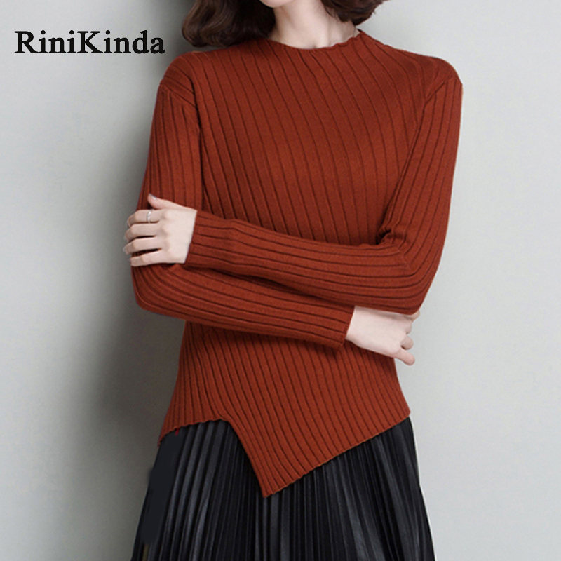 RINIKINDA Cashmere Sweater Women 2019 Full Sleeve Casual Sweaters Ladies Plus Size Fall Sweaters For Women Knit Pullovers in Pullovers from Women 39 s Clothing