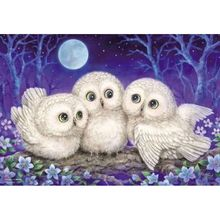 Cross Stitch Diamond Embroidery Animal Owl Patterns Full DIY 5D Diamond Painting Mosaic Wall Decoration mooncresin diamond painting cross stitch comfortable tiger animal diy diamond embroidery full round 5d diamond mosaic decoration