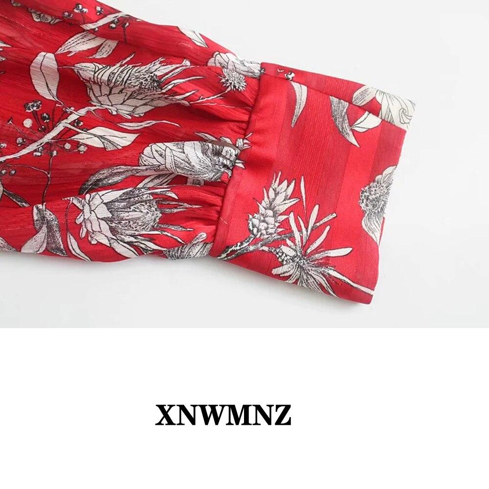 Купить женская винтажная блузка xnwmnz za с принтом и бантом высоким