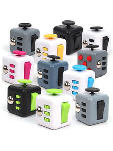 Cubes Desk-Finger-Toy Puzzle Autism Squeeze Stress Reliever Anti-Stress Fun