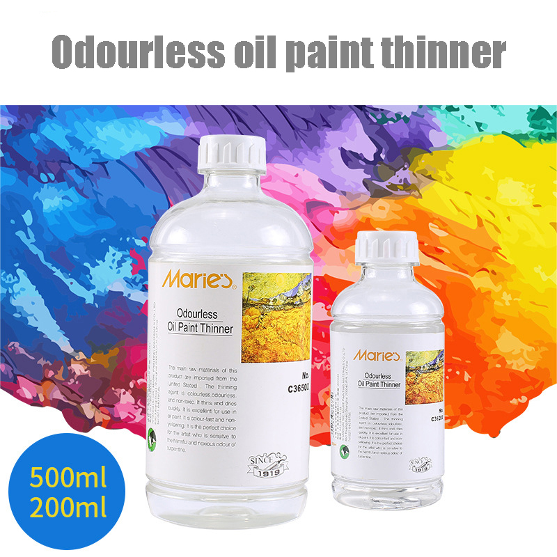200 / 500ML Oil Paint Thinner Colorless And Odorless Oil Paint Medium Art Supplies Painting Tools
